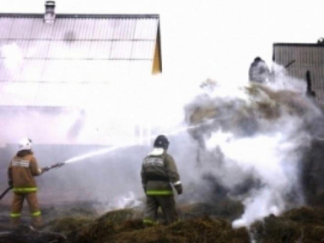 В Рубежном более 7 часов тушили горящее сено