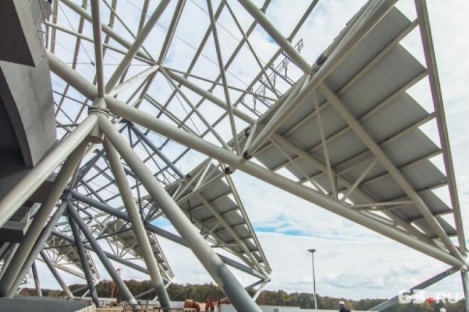 Покраска купола стадиона «Самара Арена» продлена до 10 ноября
